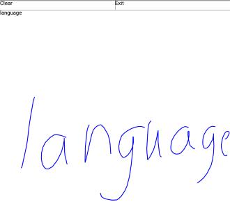 手書き「language」