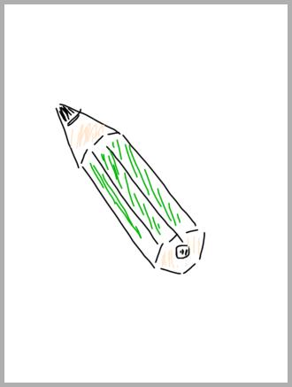 鉛筆のスケッチ