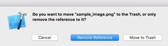 ナビゲーションエリアのファイルを削除するときの確認画面