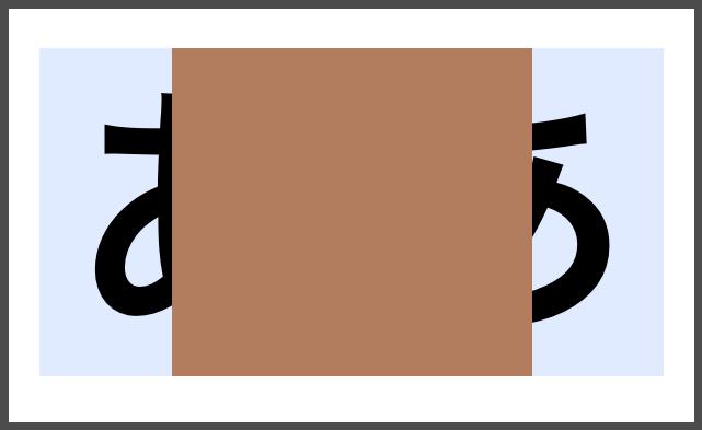 茶色い箇所のみ拡大するように設定した結果
