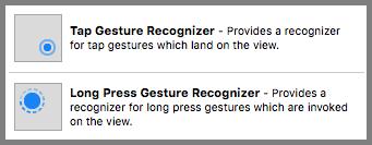 Long Tap Gesture Recognizer