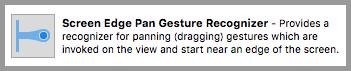 Screen Edge Pan Gesture Recognizer
