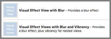 Visual Effect Views with Blur and Vibrancy