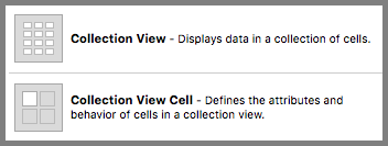Collection View と Collection View Cell