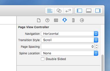 Page View Controllerのアトリビュートインスペクタ