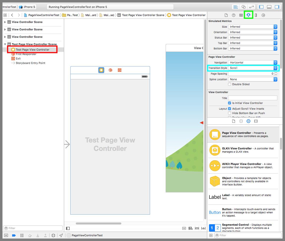 【Swift】Page View Controllerの使い方。ページをめくって画面遷移をする。(Swift 2.1