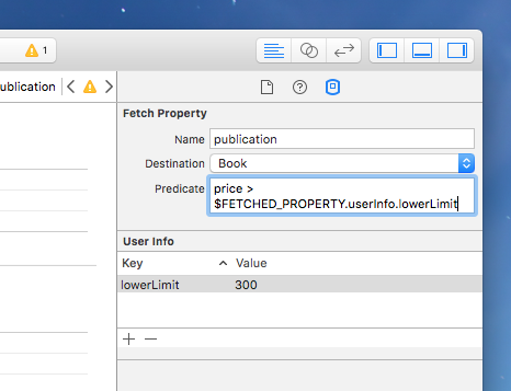 Fetched PropertyのUser Infoに値を設定