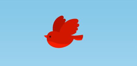 Colorに赤、Blend Factorに「1.0」を設定した場合