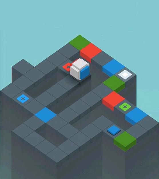 立方体を移動する前