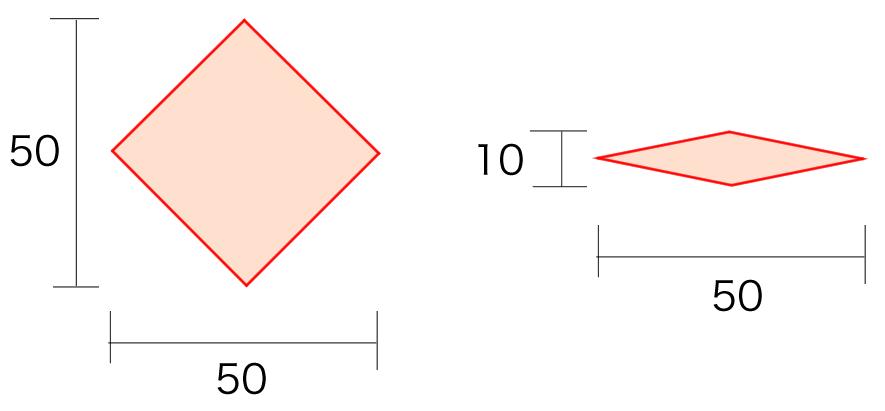 Isometric Tile の形状の例