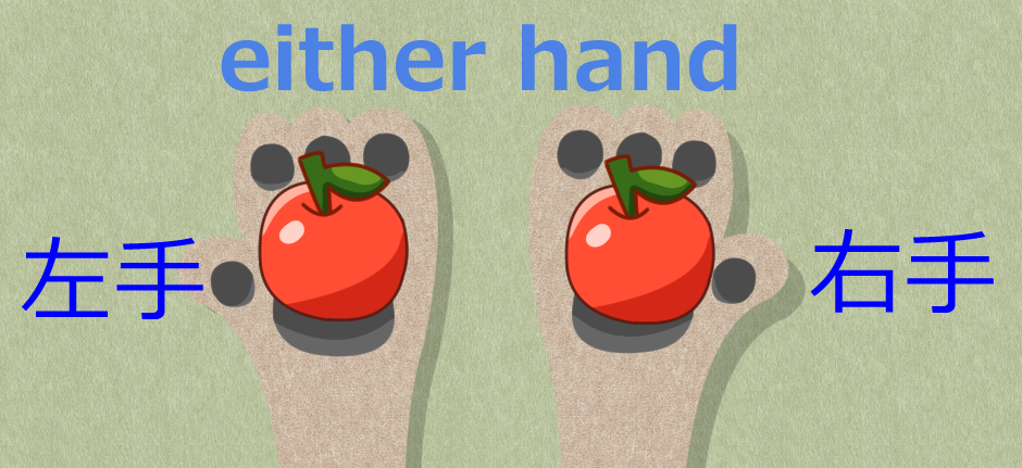 either hand