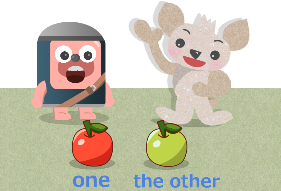 oneとthe other