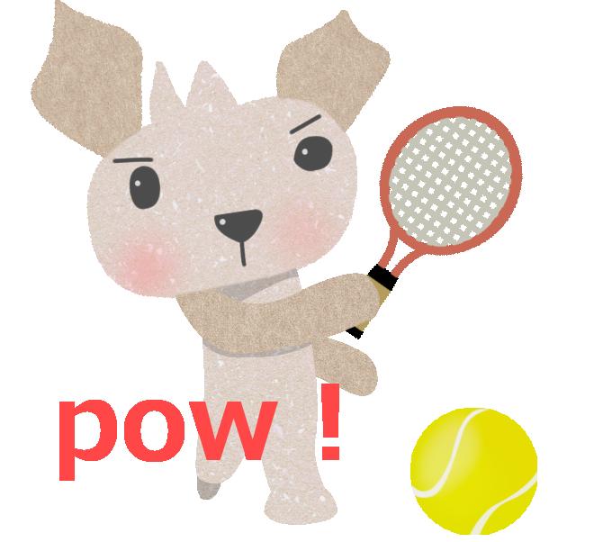 テニスをするピット