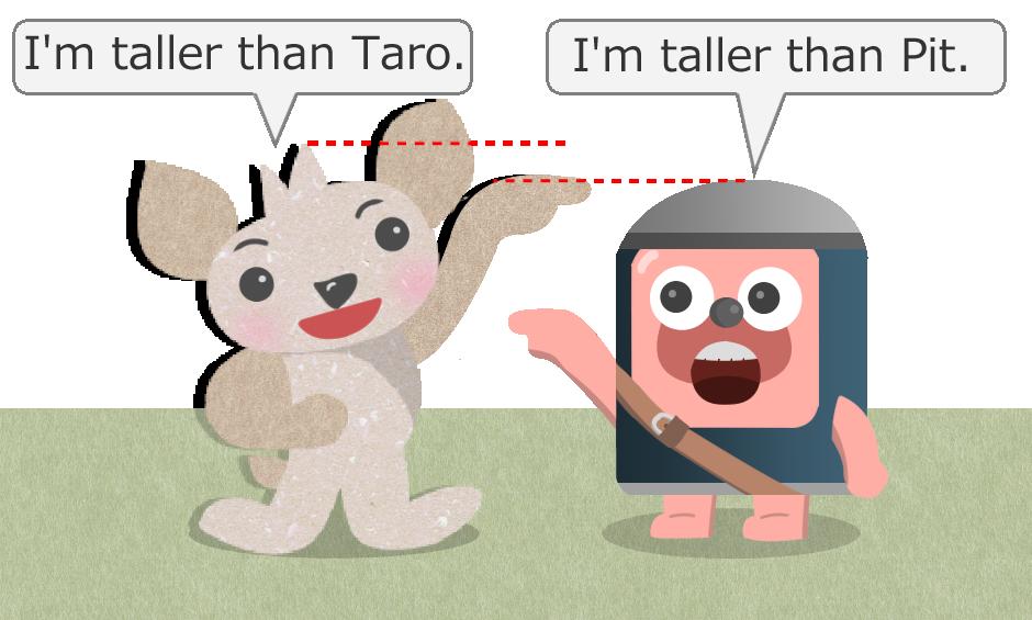 I'm taller than you.