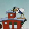 ダンボ「コウノトリがサーカス団の乗っている汽車に着陸」