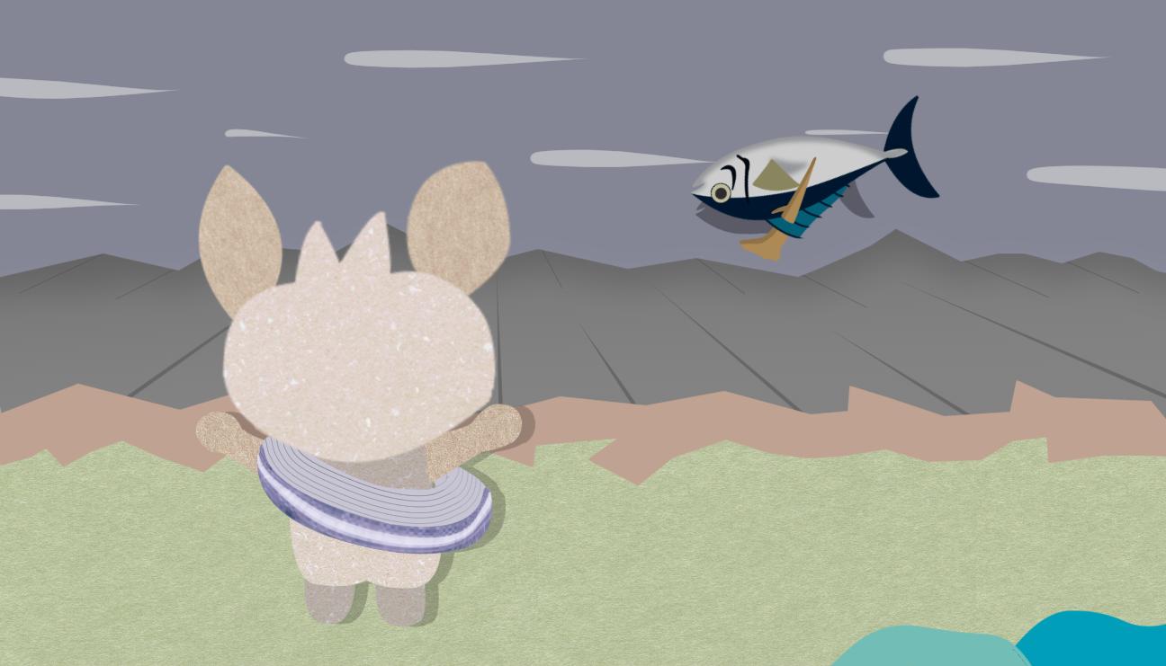 ペラペラ英語飯「魚が川で溺れ死にかけている」