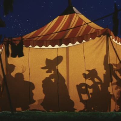 アニメで英語「サーカス劇団員の楽屋の会話」
