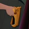 アニメで英語「ドアノブをひねる」
