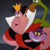 アニメで英語「女王とチャシャ猫」