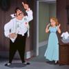 アニメで英語「父親が娘を叱る」