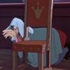 アニメで英語「椅子の後ろに隠れるフック船長」